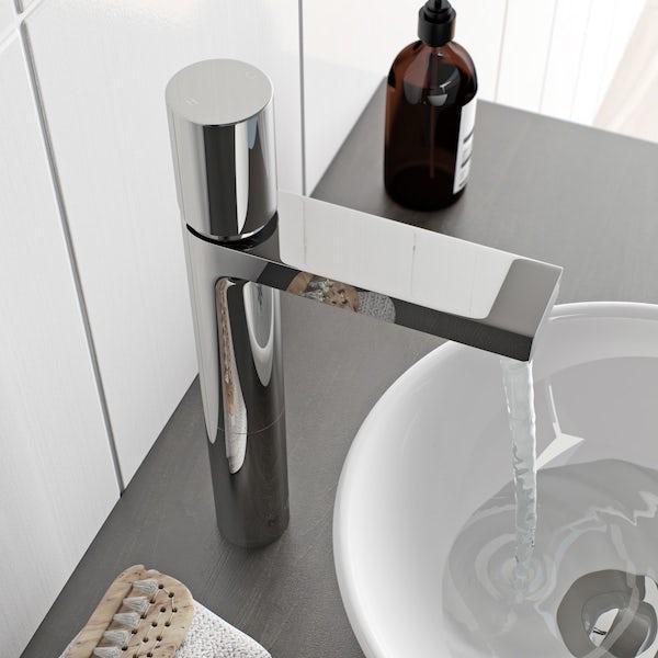 Mode Heath high rise basin mixer tap offer pack
