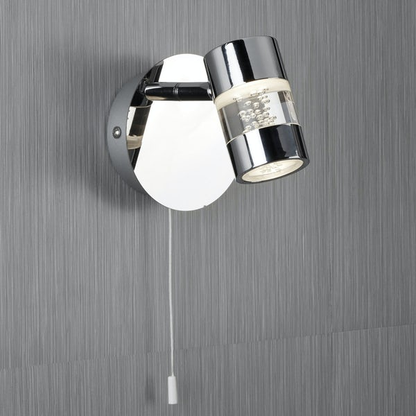 Searchlight Bubbles effect bathroom wall light