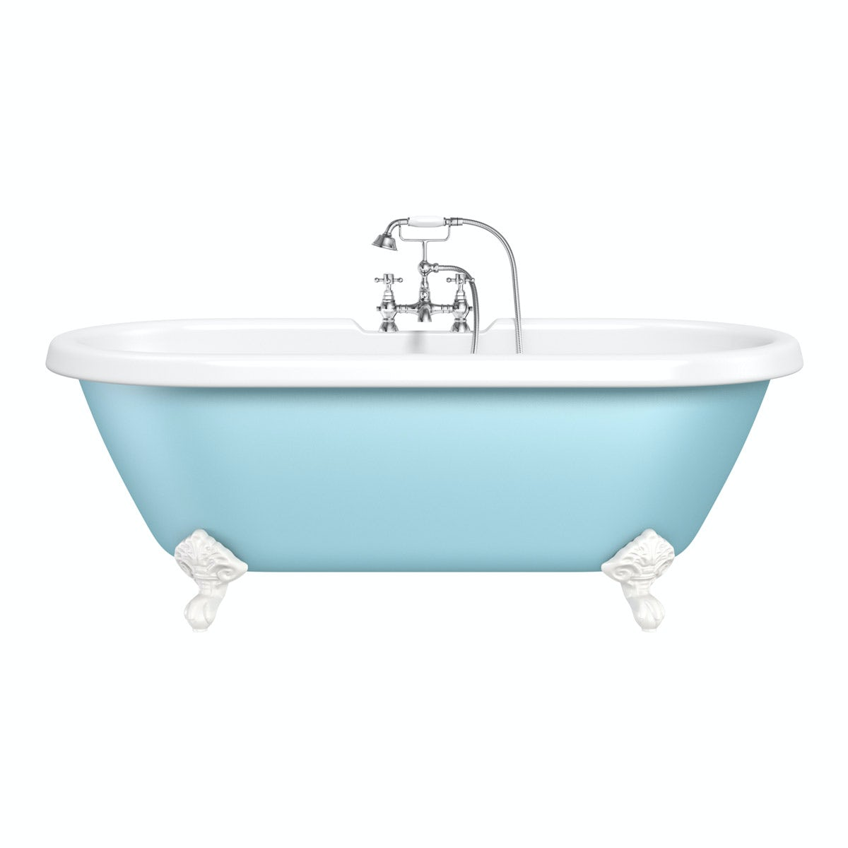 the bath co bluebell coloured bath with hampshire shower bath bluebell coloured bath with hampshire shower bath mixer tap