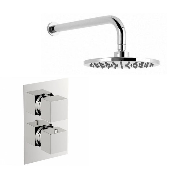 Mode Ellis complete bathroom suite with shower door, tray, shower and taps