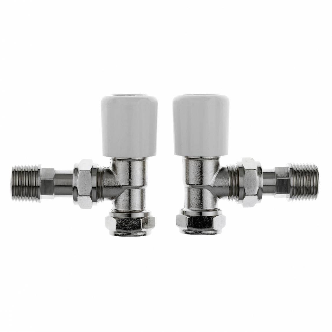 Clarity angled radiator valves