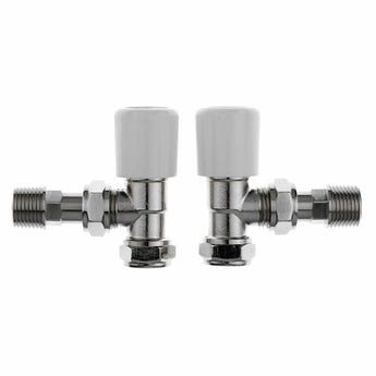 Clarity angled radiator valves