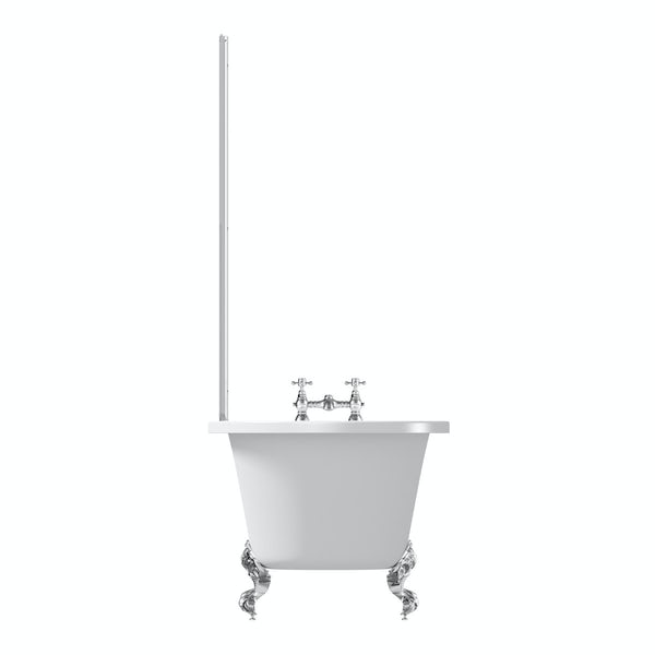 The Bath Co. Dulwich freestanding shower bath and bath screen