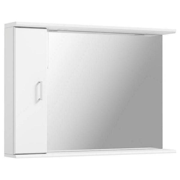 Sienna White 105 Mirror with lights