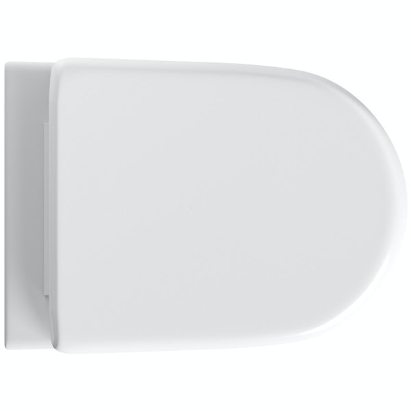 Orchard Eden back to wall toilet with soft close wrap over toilet seat