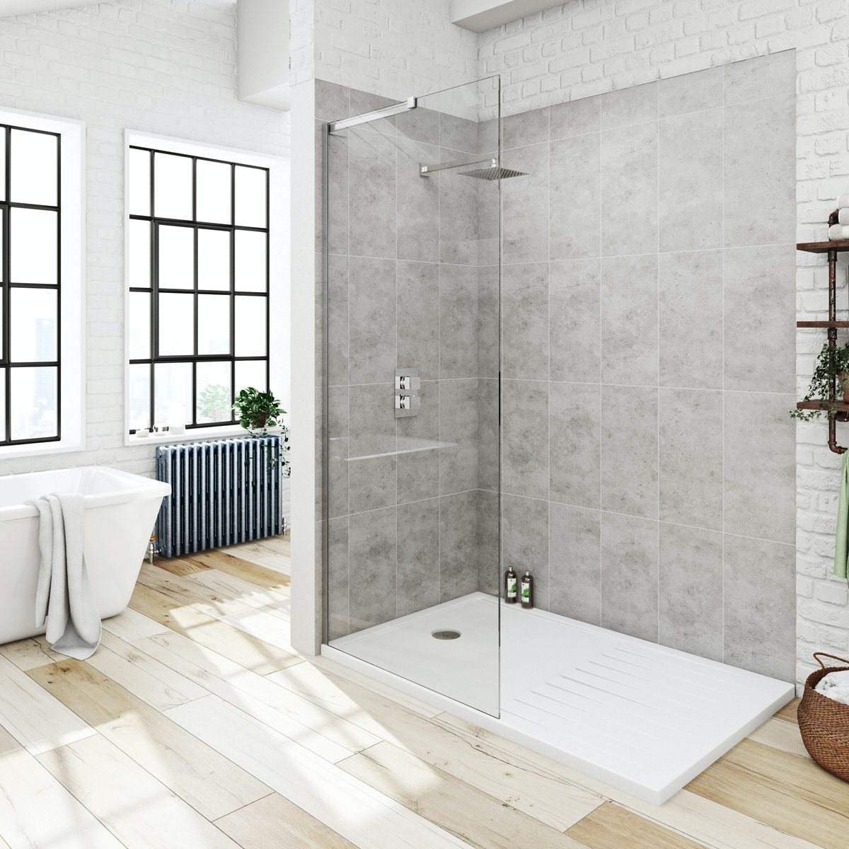 Victoria Plumb Showers >> Mode 8mm walk in pack with tray 1400 x 900 | VictoriaPlum.com