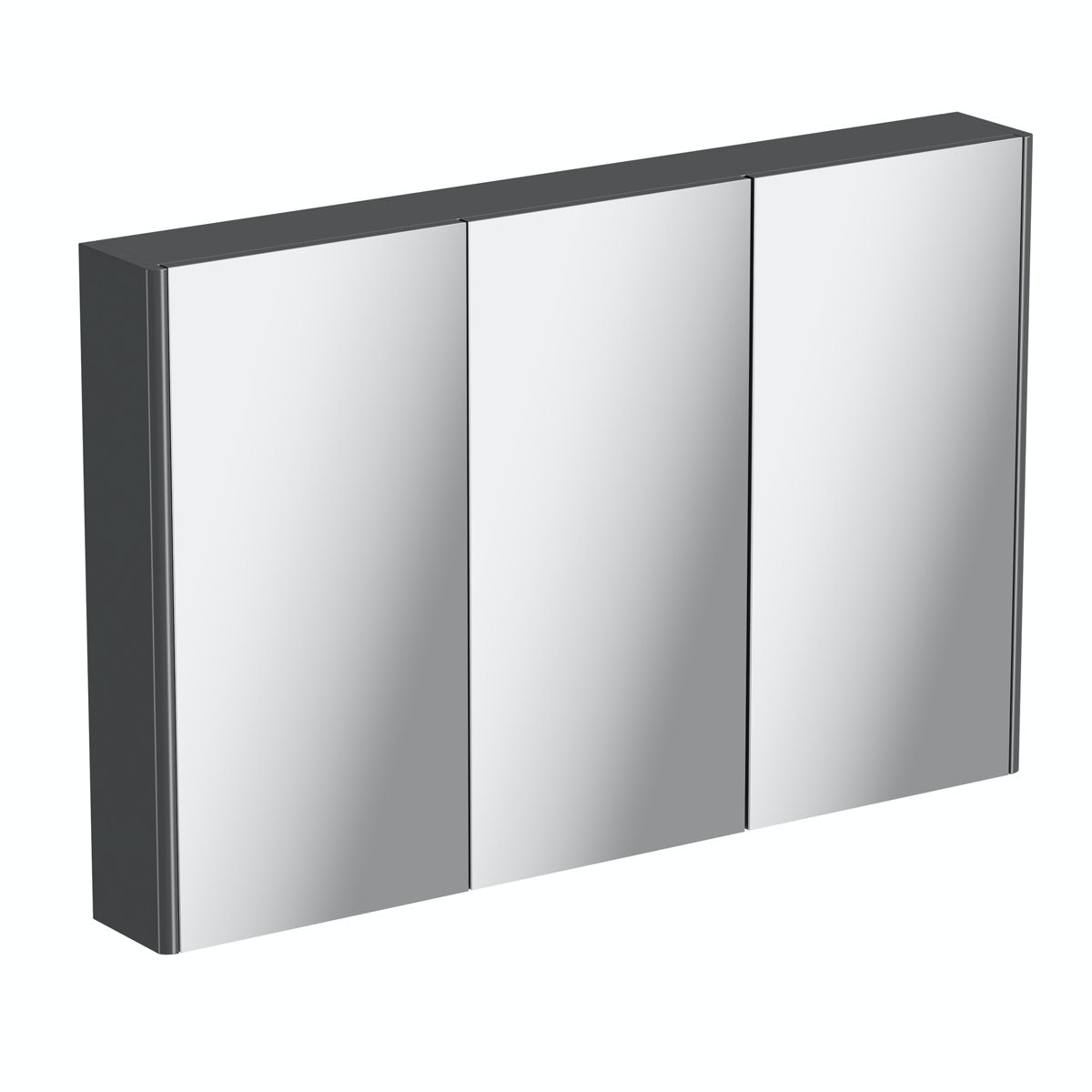 Mode slate curved mirror cabinet 1000mm
