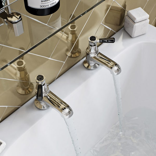 The Bath Co. Beaumont lever bath pillar taps offer pack