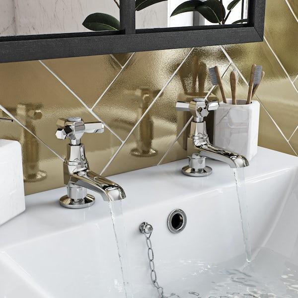 The Bath Co. Beaumont basin pillar and bath shower mixer tap pack
