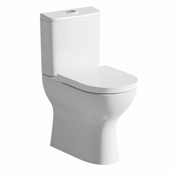 Fairbanks Raised Height Close Coupled Toilet inc. Luxury Soft Close Seat Special Offer