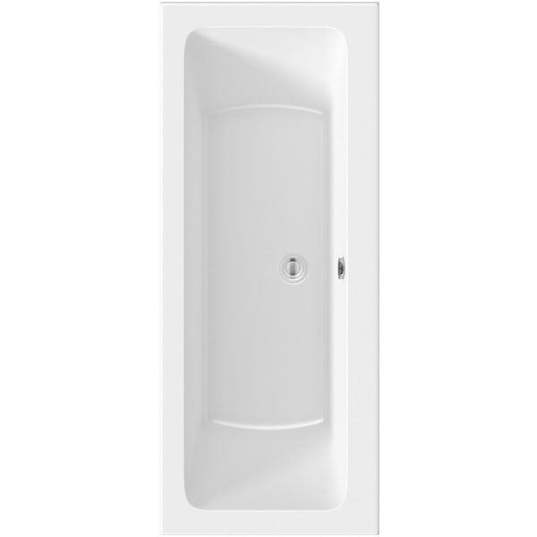 Kirke square edge double ended reinforced bath 1700 x 700 offer pack