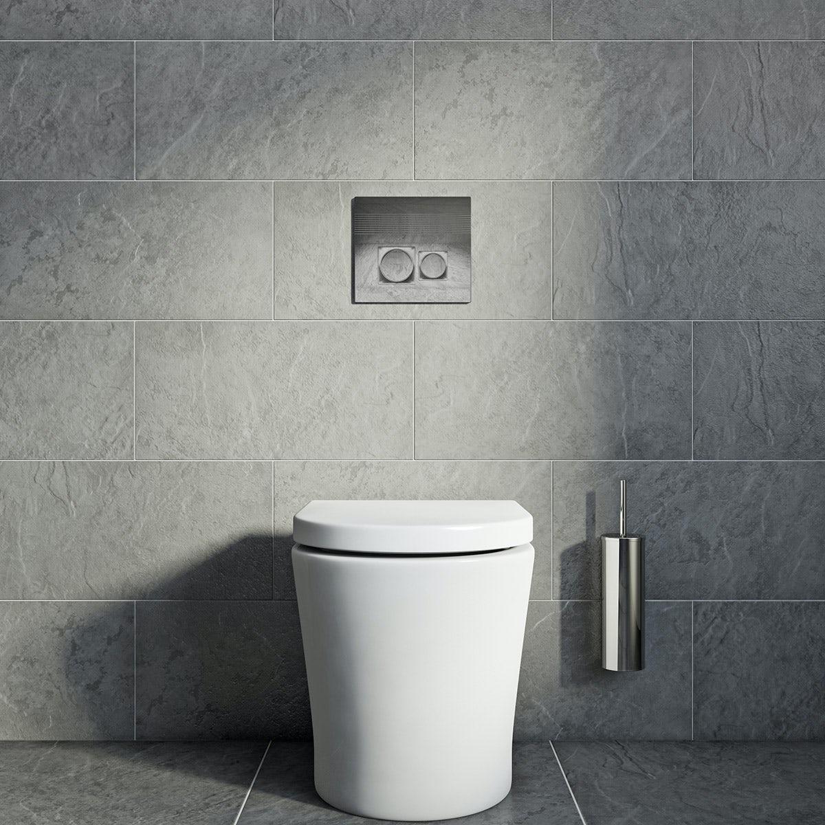 British Ceramic Tile slate light riven grey matt tile 298mm x 498mm
