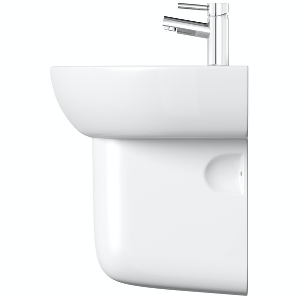 Elena 1 tap hole semi pedestal basin 550mm