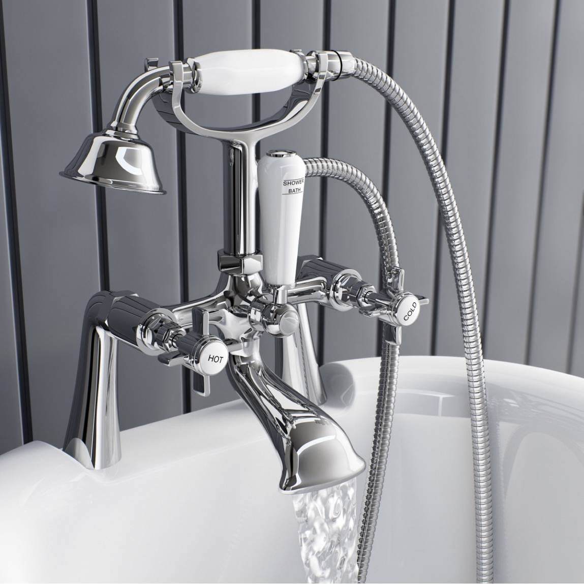 The Bath Co. Dulwich bath shower mixer tap | VictoriaPlum.com