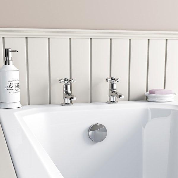 The Bath Co. Camberley bath pillar taps