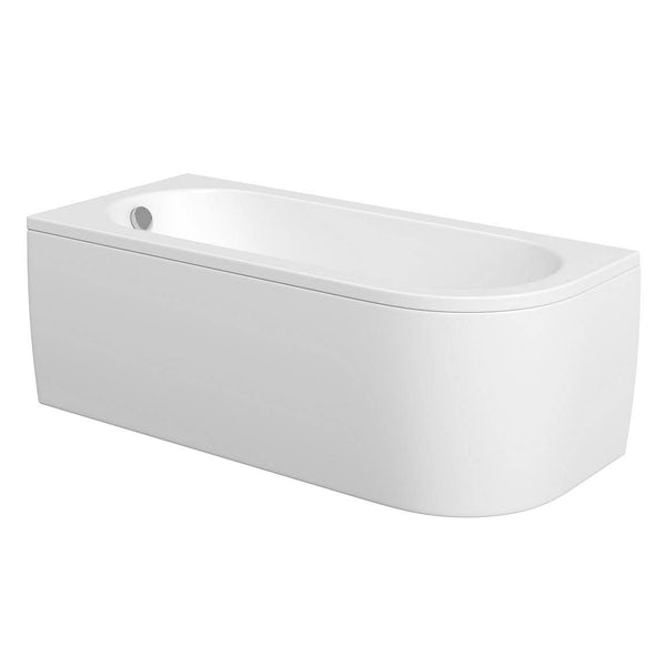 Cayman D shaped left handed single ended bath 1700 x 750 with panel