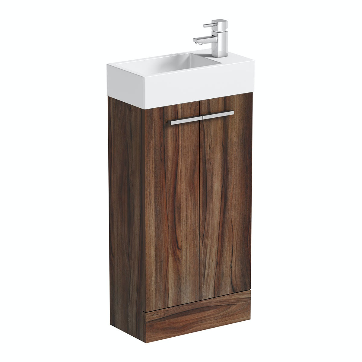 Bathroom sinks and vanity units - Walnut Cloakroom Unit With Resin Basin 410mm Orchard Bathrooms Logo