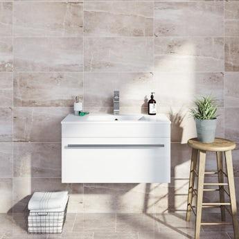 Earth marble effect grey matt tile 298mm x 498mm