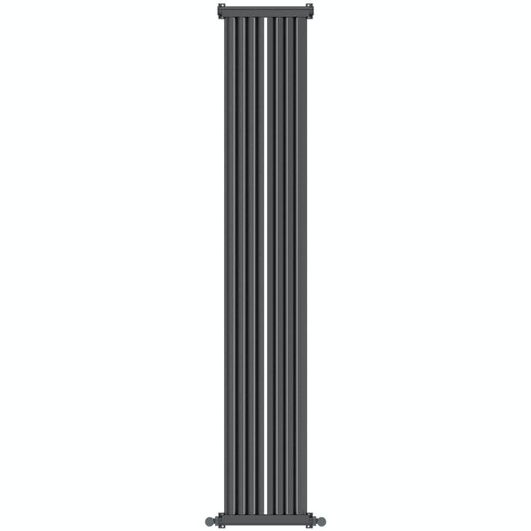 Zephyra anthracite vertical radiator 1800 x 328