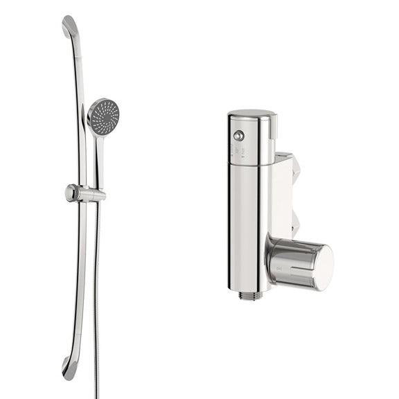 Vertical shower valve and slider rail kit