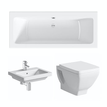 Mode Verso straight double ended bath suite