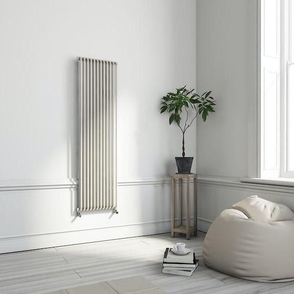 Terma Delfin soft white vertical radiator 1800 x 500