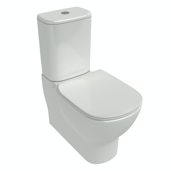 Ideal Standard Tesi back to wall cloakroom suite with semi pedestal basin 550mm