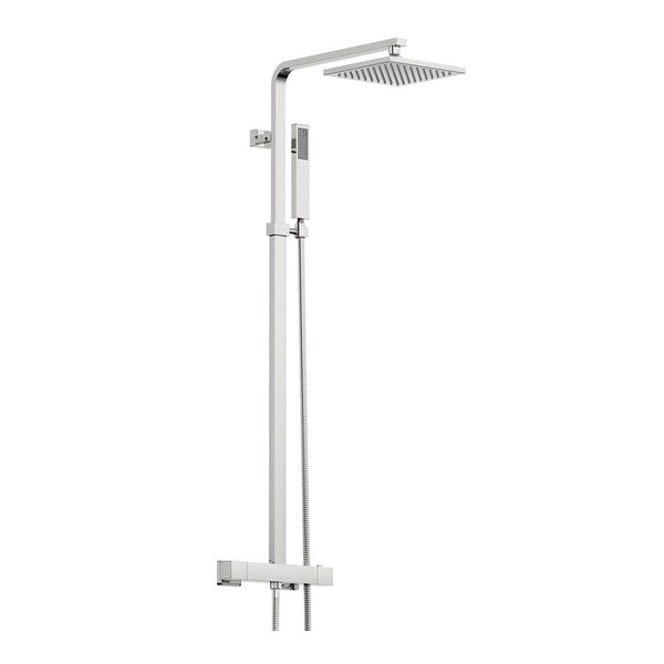 Mode Tate complete right hand shower bath suite with contemporary white drawer unit