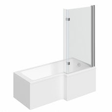 Image of Boston Shower Bath 1500 x 850 RH with 8mm Hinged Screen with Front Panel