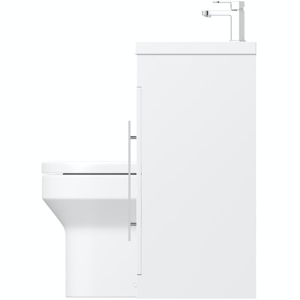 MySpace White right handed unit with Oakley back to wall toilet