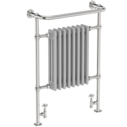The Bath Co. traditional satin grey radiator 952 x 659