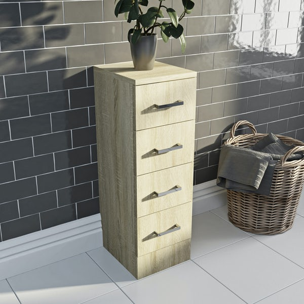 Eden oak multi drawer unit 300mm
