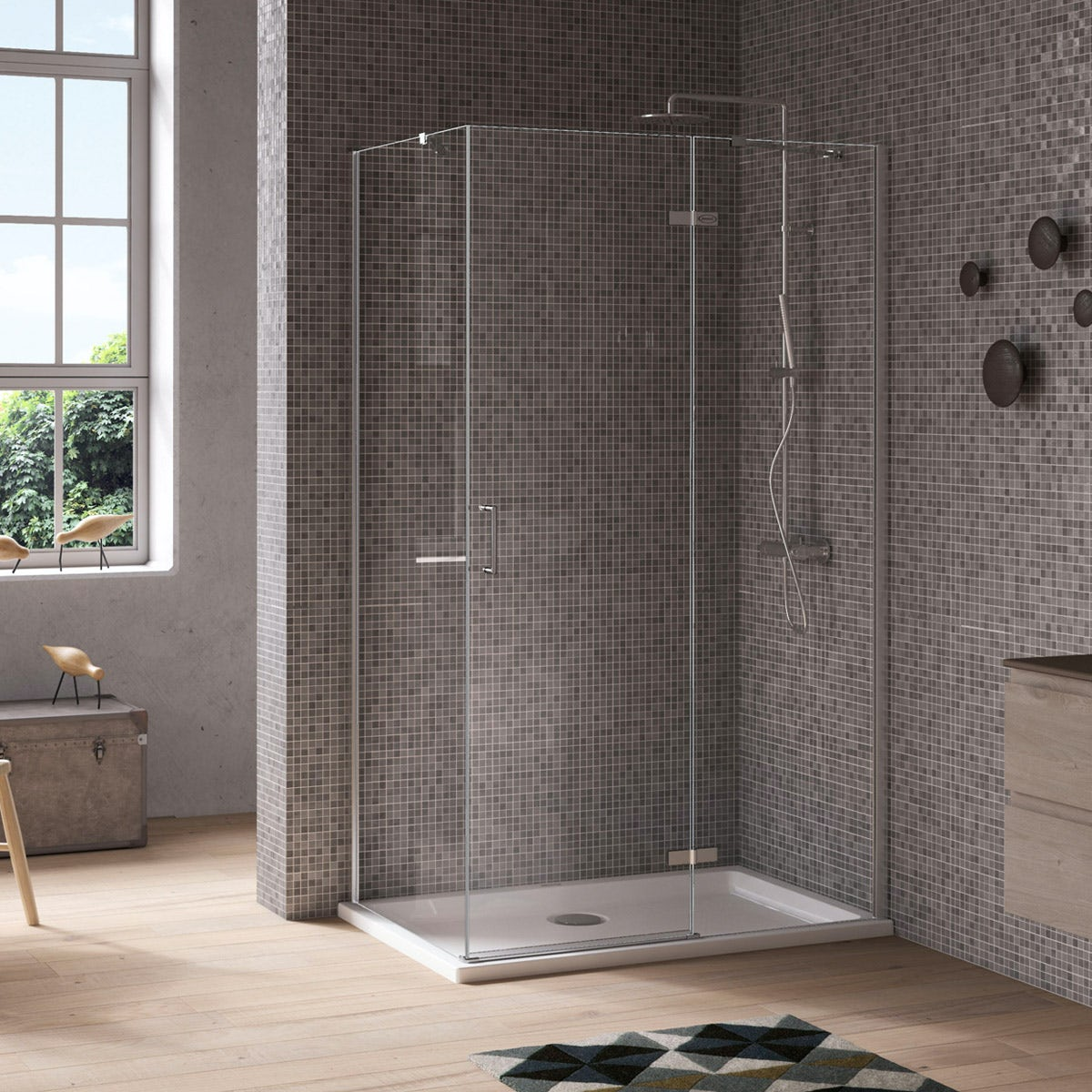 Jacuzzi Essentials hinged door shower enclosure 1000 x 800