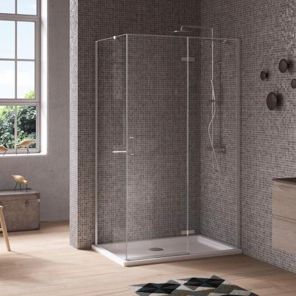 Jacuzzi the Essentials hinged door shower enclosure 1000x800