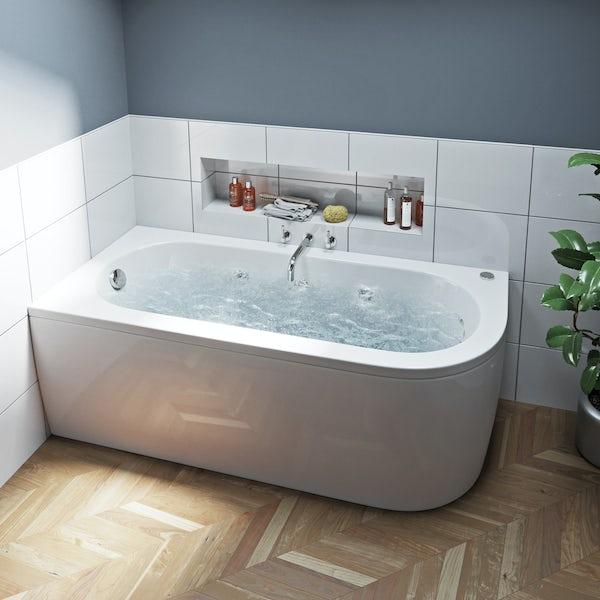 Mode Cayman right handed 6 jet whirlpool bath 1700 x 750