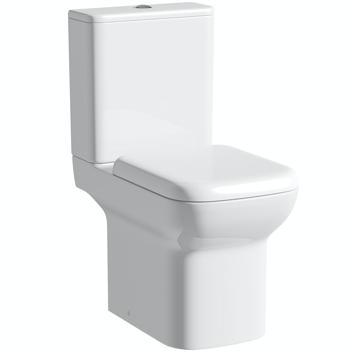 Orchard Lune close coupled toilet with soft close seat with pan connector