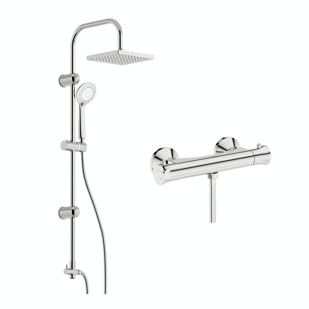 Clarity thermostatic shower valve with riser rail kit