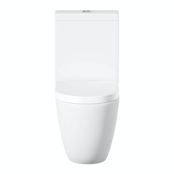 Harrison close coupled toilet inc soft close seat