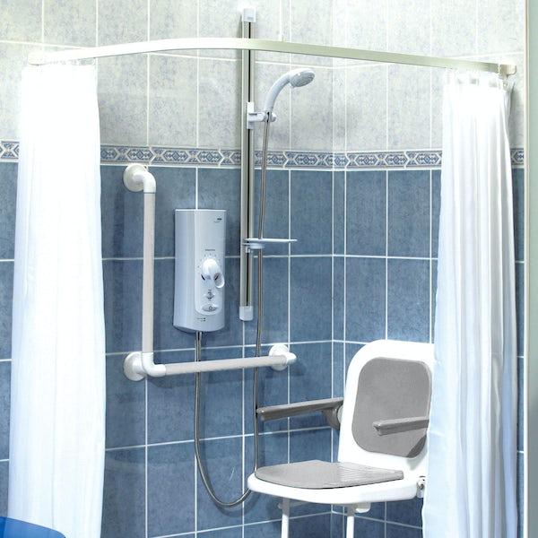 AKW Heavy duty shower curtain 1800 x 2000