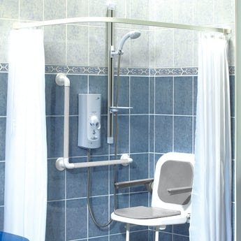AKW Heavy duty shower curtain 1800 x 2000