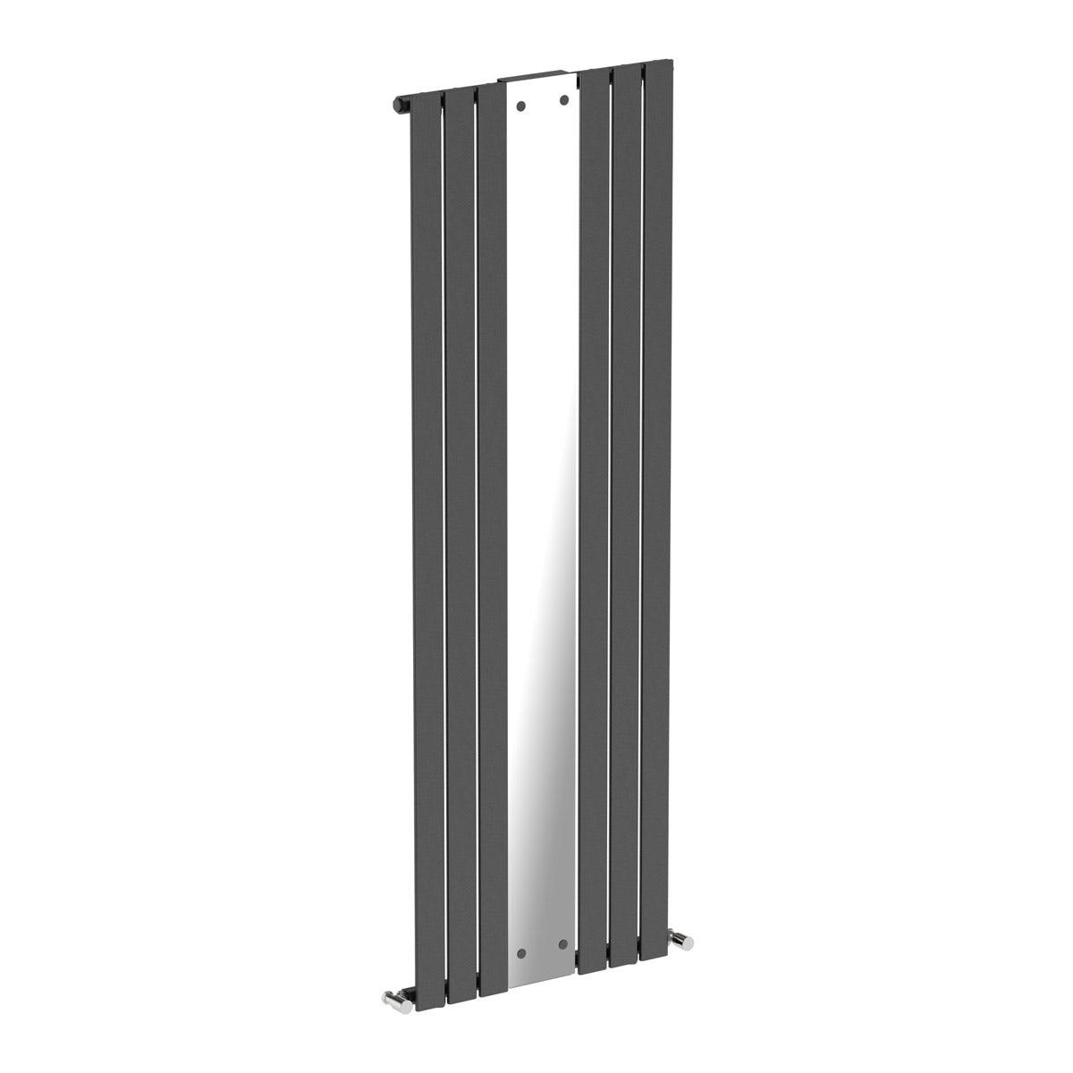 Mode Ellis anthracite vertical radiator with mirror 1840 x 620