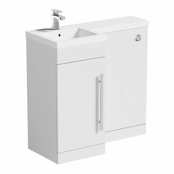 MySpace white left handed unit including concealed cistern
