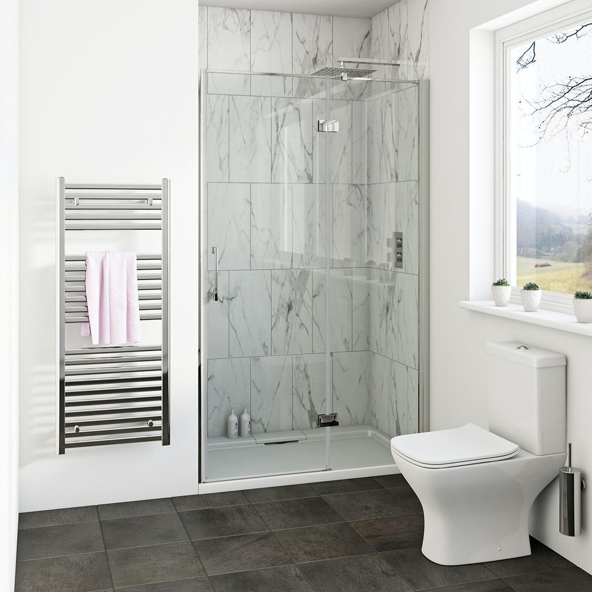 Mode Cooper 8mm hinged easy clean shower door 1200mm