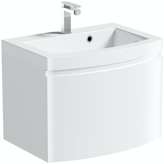 Harrison Snow 600 Wall Drawer Unit & Basin