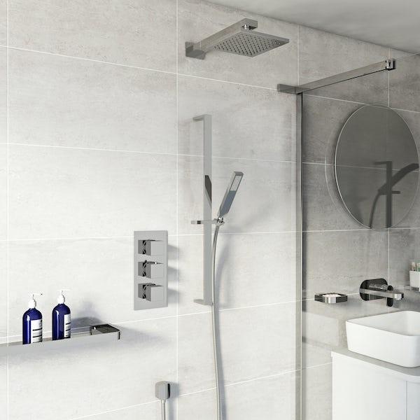 Mode Ellis thermostatic triple shower valve shower set