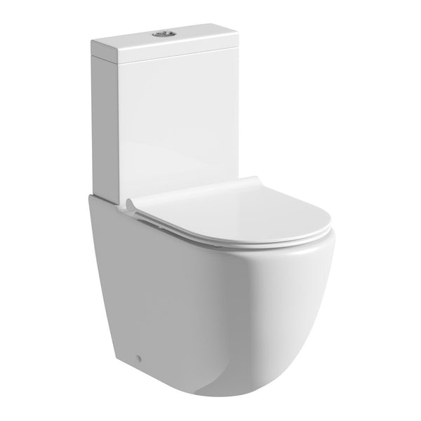 Mode Harrison complete bathroom suite with enclosure, tray, shower and taps