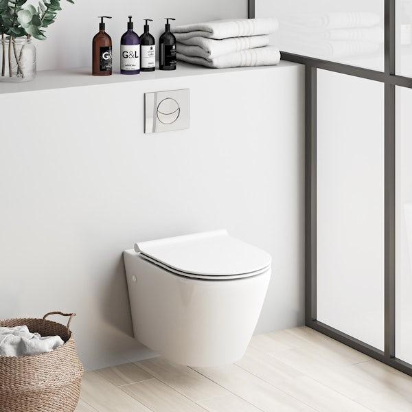 Mode Harrison wall hung toilet inc slimline soft close seat