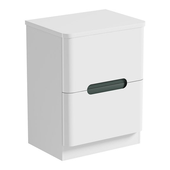 Mode Ellis slate vanity drawer unit and countertop 600mm