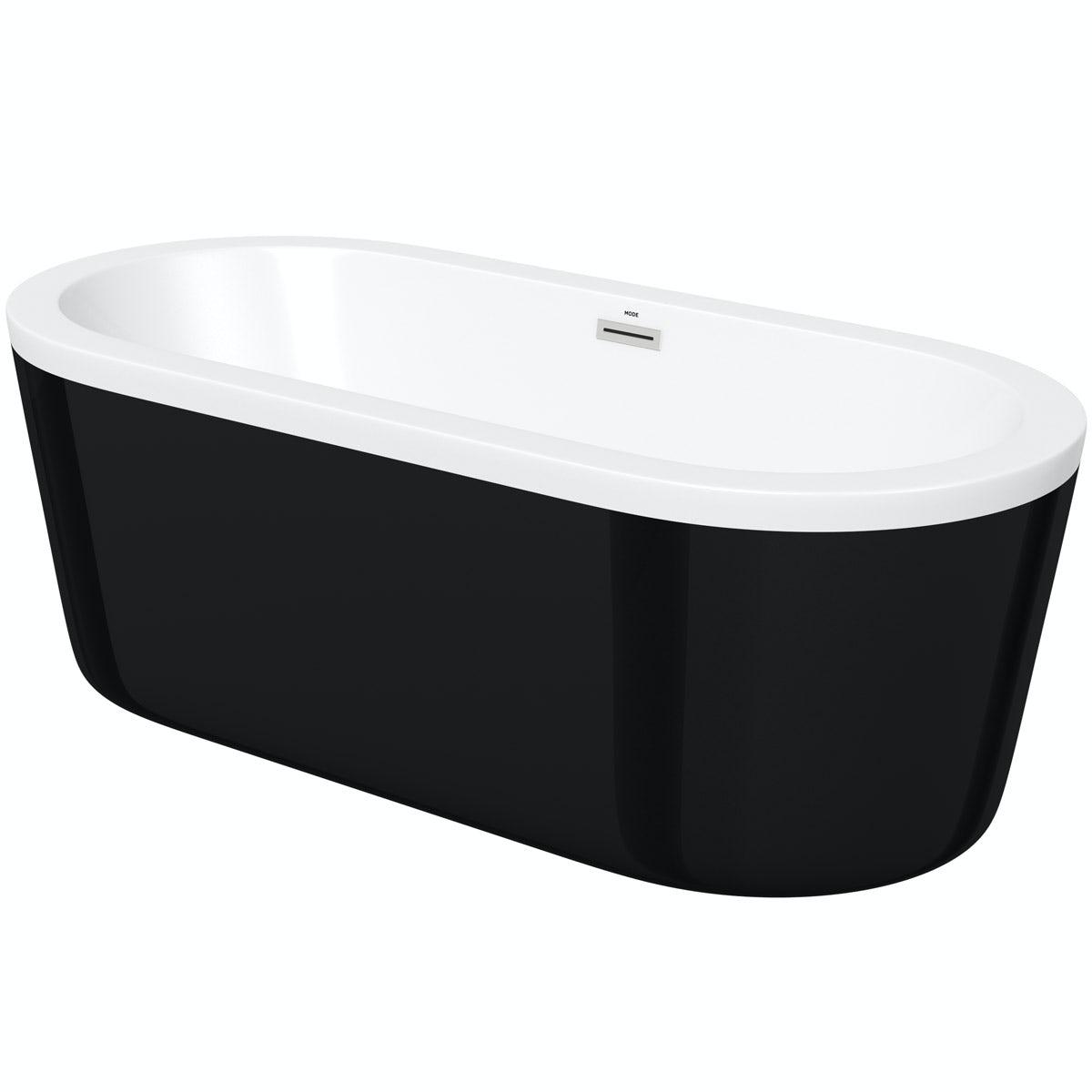 Orchard Wharfe black freestanding bath