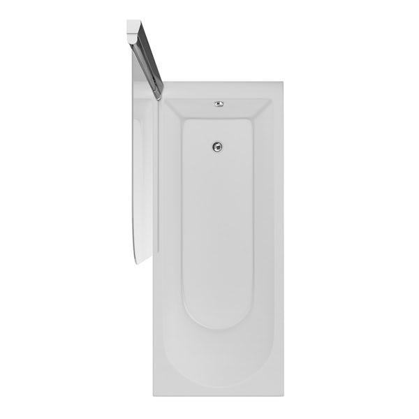 Ideal Standard Tesi straight bath and angle bathscreen